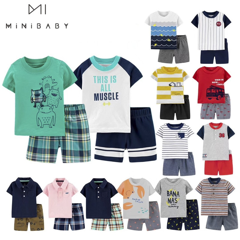 AliExpress - Brand summer boys baby clothing sets Short Sleeve Baby Boy T Shirt + pants 0-3 Years Baby sets Cotton Children Suit Infantil