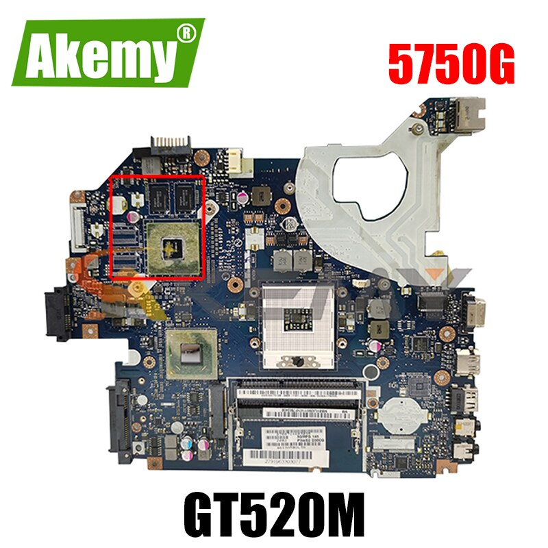 AKEMY لوحة أم للكمبيوتر المحمول Acer 5750 5750G NV57 HM65 Nvidia GT520M Graphics DDR3 MB. Rff04.004 MBRFF02004 P5WE0 LA-6901