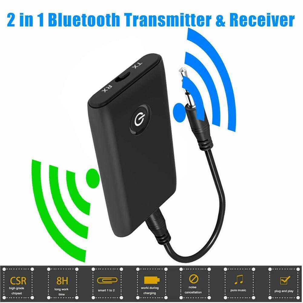 2 in 1 Bluetooth 5.0 Transmitter Receiver TV PC Car Speaker 3.5mm AUX Hifi Music Audio Adapter/Headphones Car Stereo Device
