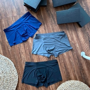 2021 New men's ice silk breathable and quick-drying fabric boxer Briefs