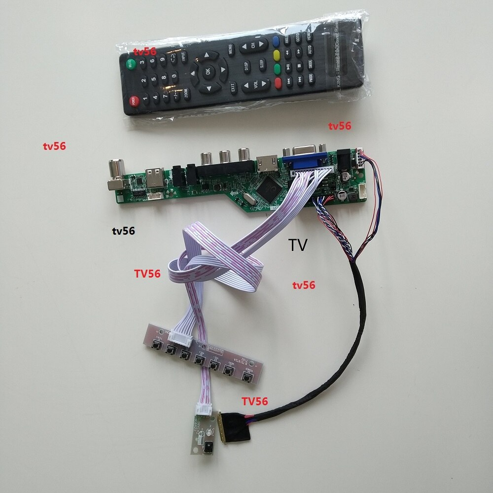 "For LTN156AT05/LTN156AT05-H07 15.6"" 1366*768 TV LED AV VGA HDMI RF AUDIO Mother Controller Board kit card Monitor Screen"