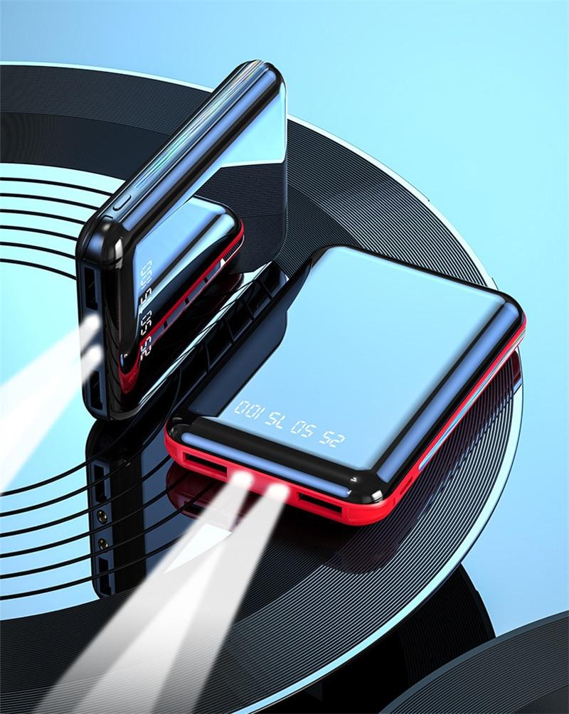 For Xiaomi mi 8 iPhone 11 pro Samsung S8 Poverbank Mini Power Bank 20000mAh USB Charging Portable Ch