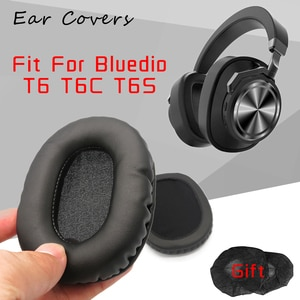 Earpads For Bluedio T6 T6C T6S Headphone Earpads Replacement Headset Ear Pad PU Leather Sponge Foam