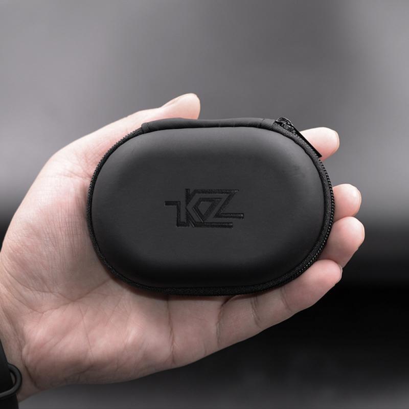 Kz Headphone Case Storage Bag PU Leather Portable Waterproof Headset Box And Dustproof Resistant Earphone Protection Bag