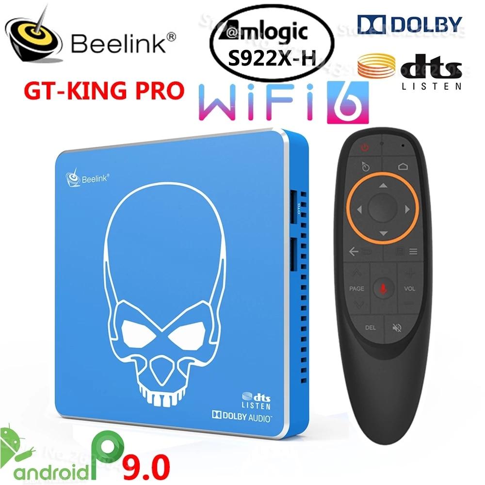 Beelink GT-King برو مرحبا فاي ضياع الصوت صندوق التلفزيون مع دولبي الصوت Dts الاستماع Amlogic S922X-H أندرويد 9.0 4GB 64GB 4K مشغل الوسائط