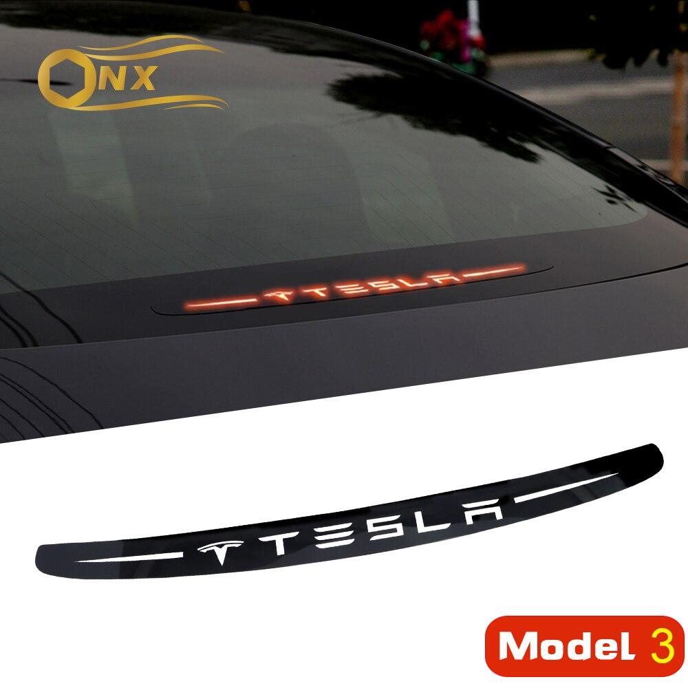 Автомобильные стоп-сигналы из поликарбоната, автомобильные наклейки, автомобильные аксессуары, украшение для tesla model 3, аксессуары, стильные...