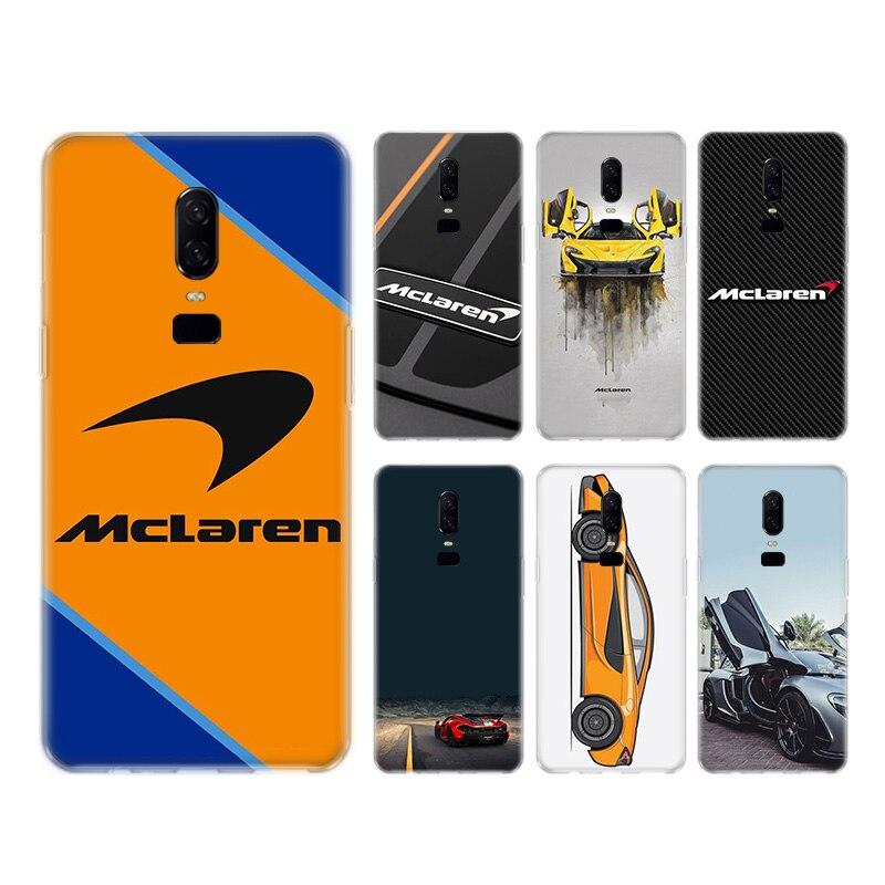 Funda trasera de silicona con logotipo de racing Mclaren para teléfono OnePlus 1 + One Plus 8 7T 7 Pro 6T 6 5T 5