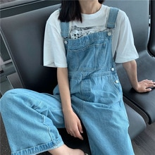 Casual Loose Women Jeans Overalls Plus Size Fashion Girls New 2021 Spring Autumn Denim Overall High