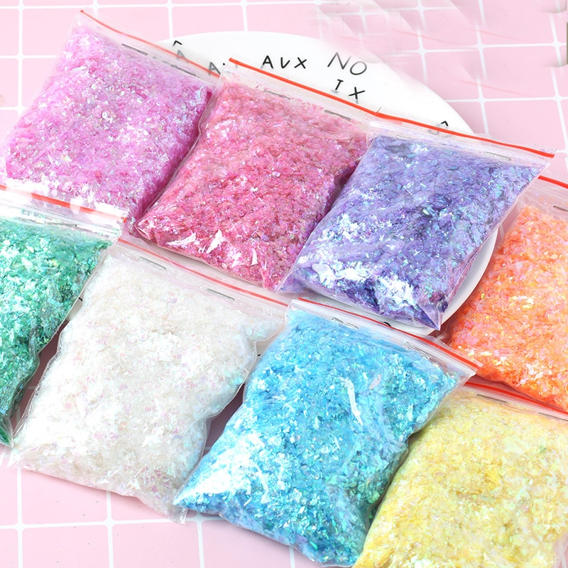 Irregular Shell Paper Sequin DIY Nail Flakies Colorful Paillette Glitter Nail Art Sequins for 3D Nai