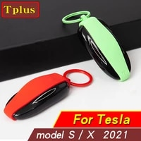 new model key case silicone rubber car key protection key fob protector cover case for tesla model x s remote keyless