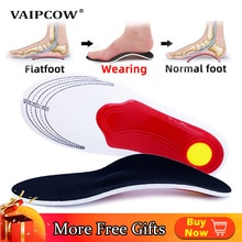 VAIPCOW Premium Orthotic Gel High Arch Support Insoles Gel Pad 3D Arch Support Flat Feet  Women Men