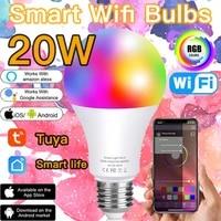 20W Ampoule Intelligente E27 LED Lampe Telecommande IR Ou Wifi Vocale Siri Dimmable Alexa Google Assistant Maison RVB AC85V-265V IOS Android