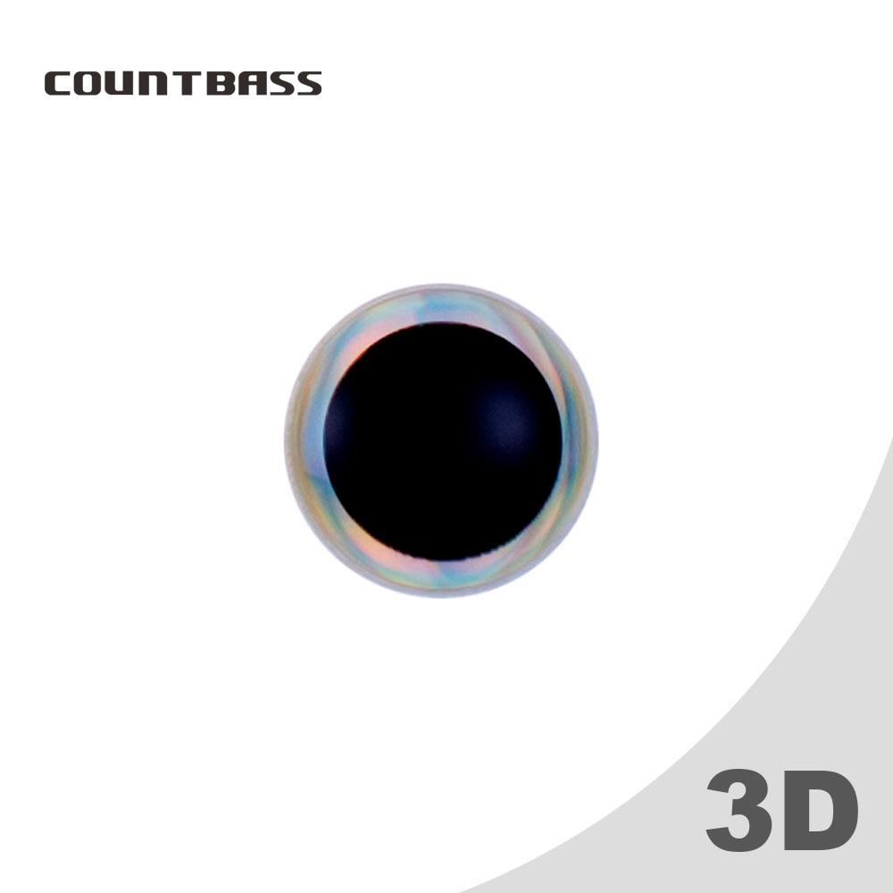 50pcs 4mm, 5mm, 5.5mm, 6mm, 7mm, 7.5mm 3D Holographic Big Black Pupil Fishing Lure Eyes,Living Bass Flying Jigs Lure Eyes
