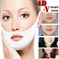 4d v face health beauty lifting firming anti wrinkle chin sticking hanging ears face gel mask