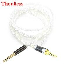Thouliess Hi-end 8 núcleos 7N OCC plateado Audio auricular Cable de actualización para AH-MM200 MM400 auriculares