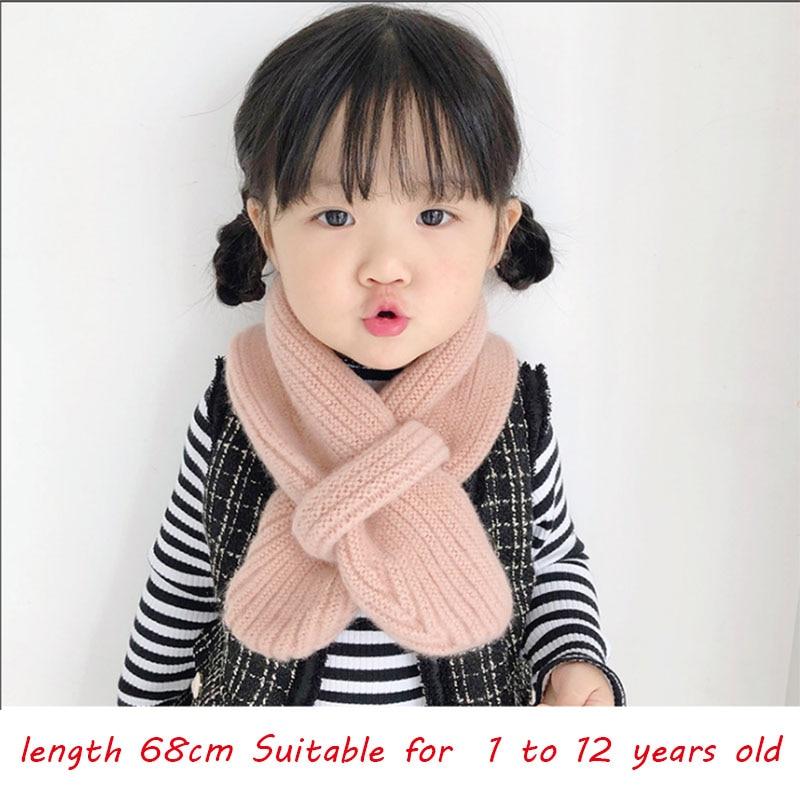 2019 Fashion Winter Children's Scarf For Baby girl Scarf Boys Girls Neckchief Thick Warm Neck Children's Scarf for gift