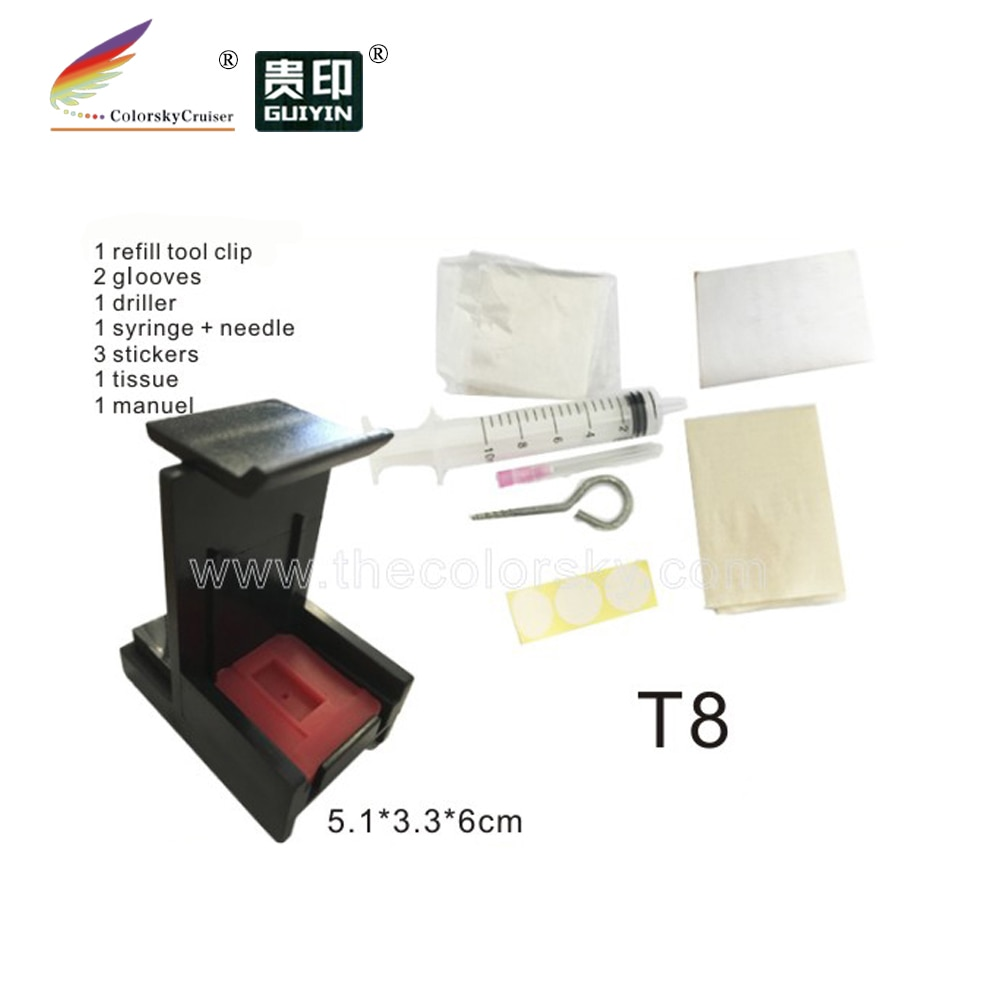 (T8) profesional de herramienta para recarga de tinta HP 21 22 57 58 28 92 336 93 342 94 338 95 343 96 339 97 344 98 337 99 348 100 HP21 HP22