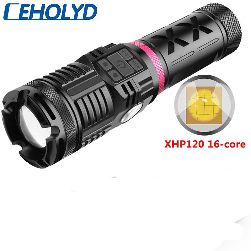 z45 xhp120 alta quality16 core 4 cores led lanterna usb recarregavel powerbank 3