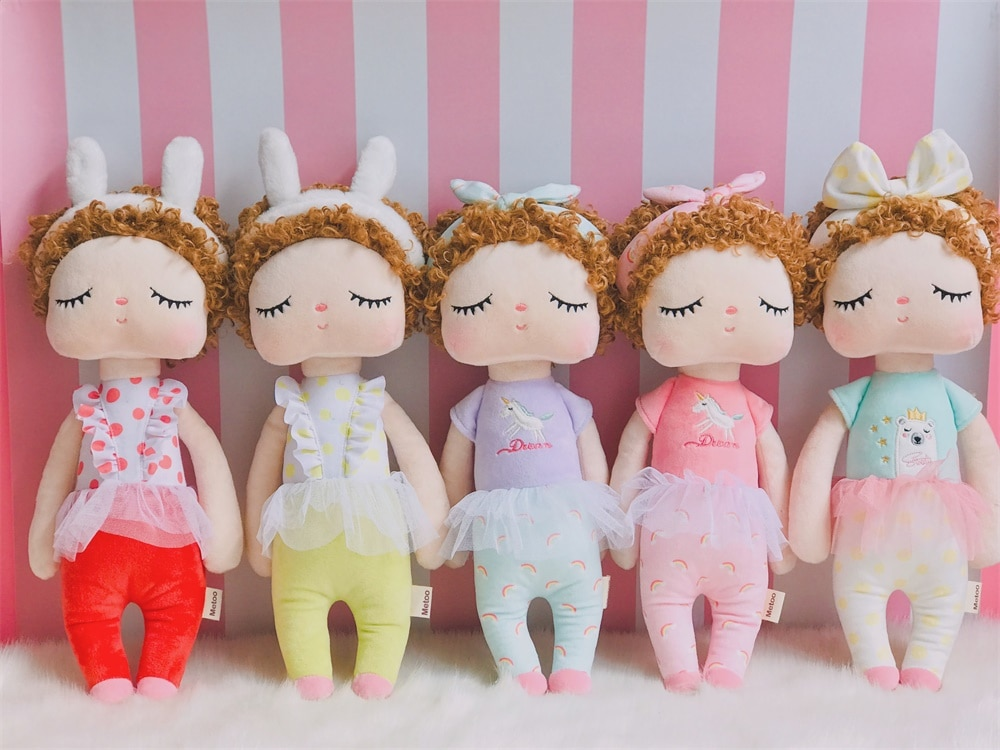 Metoo Plush Toys Curls Angela Dolls 2020 new design With Box Plush Rabbit Girl Gift Toys For Kids Easter gift