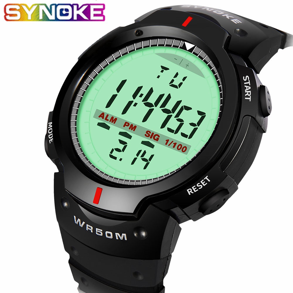 2020 children girls kid watches analog digital sport led electronic waterproof wrist watch boy child new	horloge relojes niños SYNOKE Watches Men 30M Waterproof Electronic LED Digital Watch Men Outdoor Mens Sports Wrist Watches Stopwatch Relojes Hombre