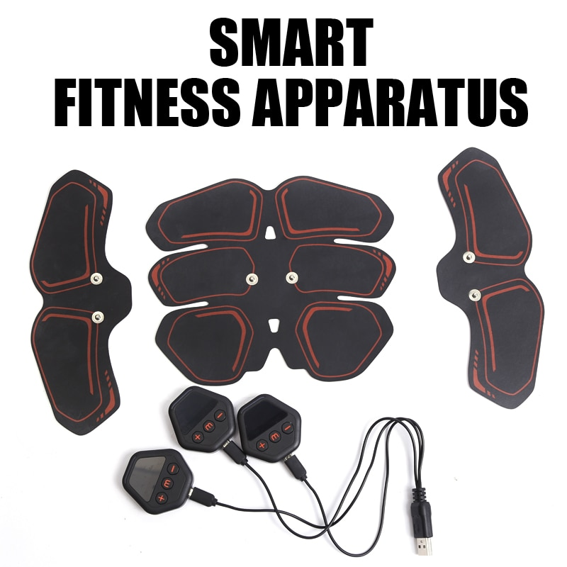 EMS ABS Wireless Muscle StimulatorTrainer Smart USB Chargeable Muscle Weight Loss Stickers At Home Body Slimming Unisex Exercise smart spaces storage at home