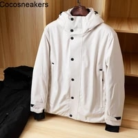 cold resistant soft and comfortable fabric white duck down mens thickened windproof and waterproof fashion winter down jacket