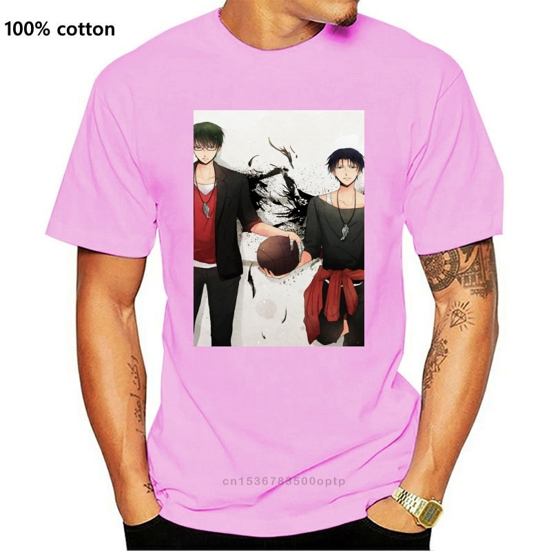 Kuroko-Camiseta sin baloncesto Unisex, Camisa de algodón de Anime, regalo de Navidad...