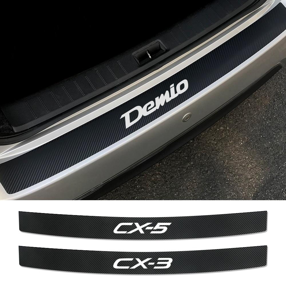 Автомобильная накладка на задний бампер защитная пластина виниловые наклейки для Mazda Demio CX-5 CX-3 3 6 Axela Atenza MS MPS аксессуары