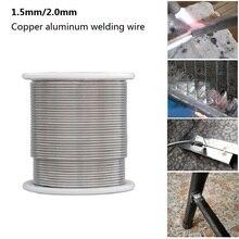 1.6/2mm soudure fil de soudage 1/2/3/5m basse température cuivre aluminium fil de soudage électrode fourré baguette de soudage pour réparation