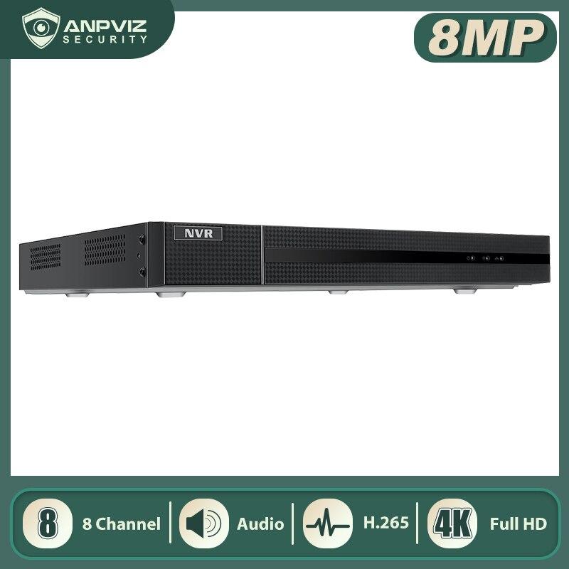 Hikvision OEM 4K 8 CHN HK سلسلة POE NVR متوافق مع دعم ما يصل إلى 6 تيرا بايت HDD USB النسخ الاحتياطي H.265 NVR108MH-P8