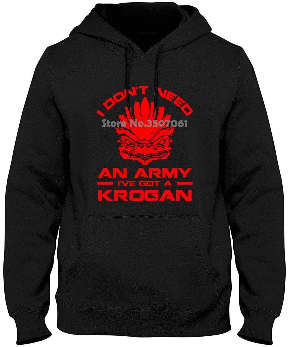 """Parodia con efecto de masa informal para hombre, """"No necesito un ejército, tengo una sudadera con capucha y sudaderas para hombre de Krogan"""""""