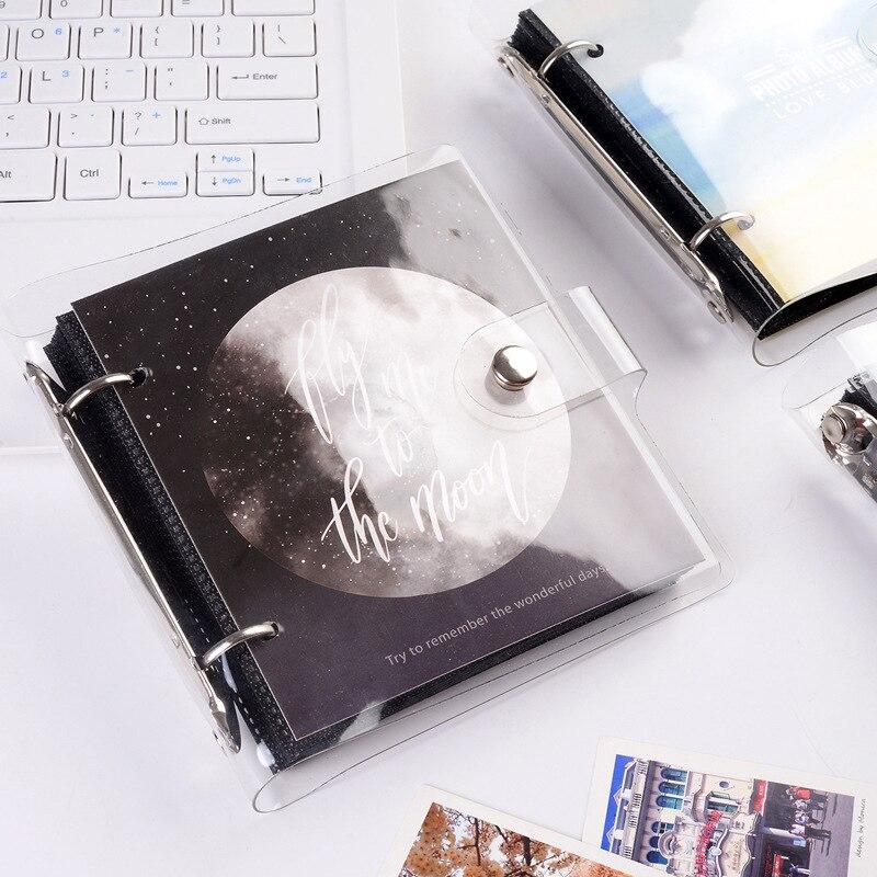Álbum de fotos simples 3 Polegada, removível, solto, folhas, álbum de fotos, suporte de cartão, família, fotobook, à prova dágua