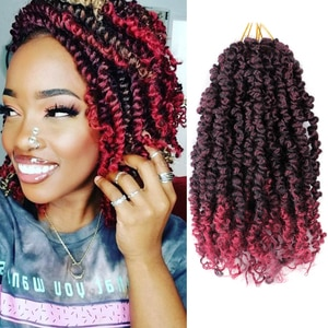 Synthetic Short Pre-twisted Bob Passion Twist Crochet Hair With Curly End Pre looped Passion Twist Hair Bohemian Crochet Braids