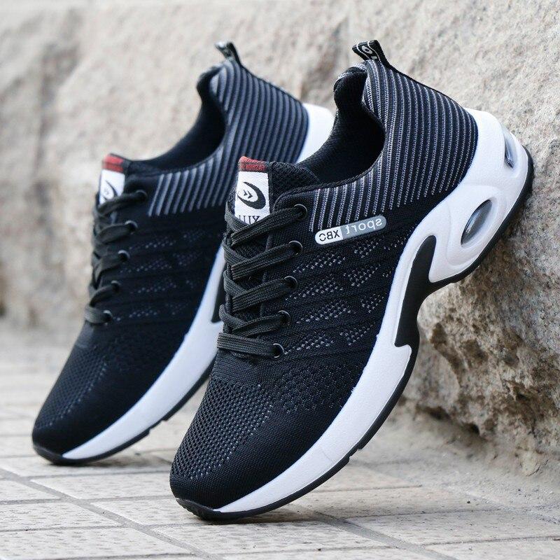 الرجال أحذية رياضية وسادة هوائية في الهواء الطلق أحذية مشي 2021 الصيف تنفس الرياضة احذية الجري المنخفضة لينة أحذية رياضية كاجوال حجم 44