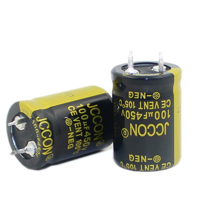 Jccon de pé Potência do Inversor Grosso Capacitor Eletrolítico Volume 22×30 450v100uf