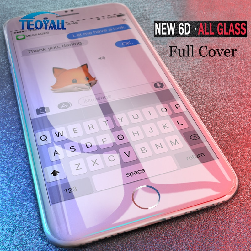 Full 6D Edge Tempered Glass For iPhone X XS 7 8 6 6s Plus Screen Protector on iPhone 8 6 10 11 12 Pro XS MAX XR Glass Protective