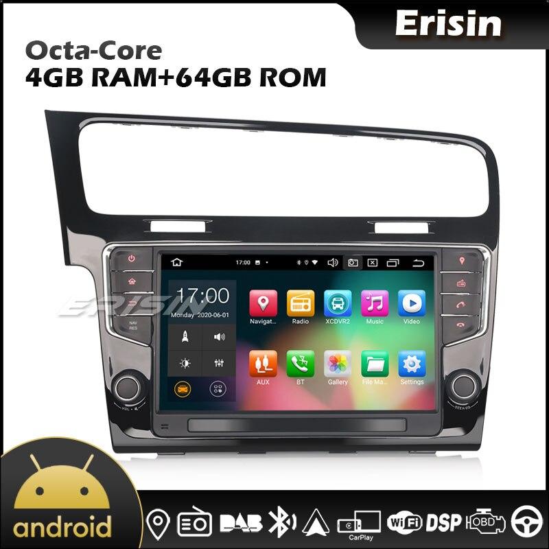 "Erisin 8111 9 ""Android 10.0 GPS DAB DSP CarPlay Android Auto 64G autoradio pour VW GOLF VII 7"