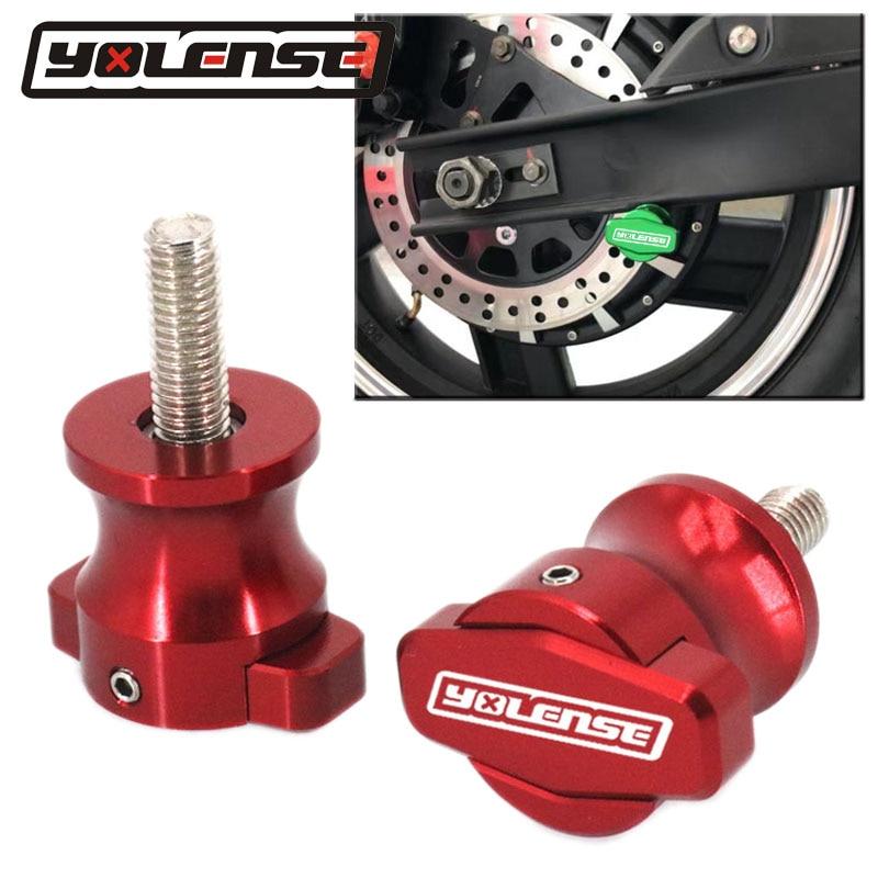Motocicleta cnc quadro stands 8mm parafusos sliders swingarm carretéis slider para suzuki GSX-R600 GSX-R750 GSX-R1000 gsxr 600 750 1000