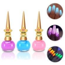 14ml Luminous Nail Polish Gel Holographic Nail Art Manicure Primer Acrylic Poly UV LED Gel Glow In The Dark Nail Varnish