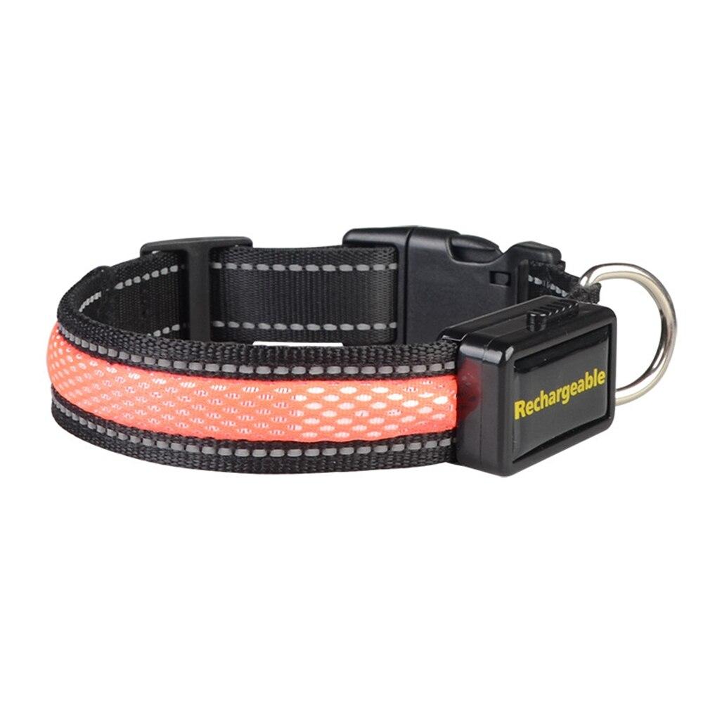 1 шт. ошейник для собак S/M/L СВЕТОДИОДНЫЙ мигающий светильник ошейник для домашних животных USB зарядка нейлоновые светящиеся ошейники для без...