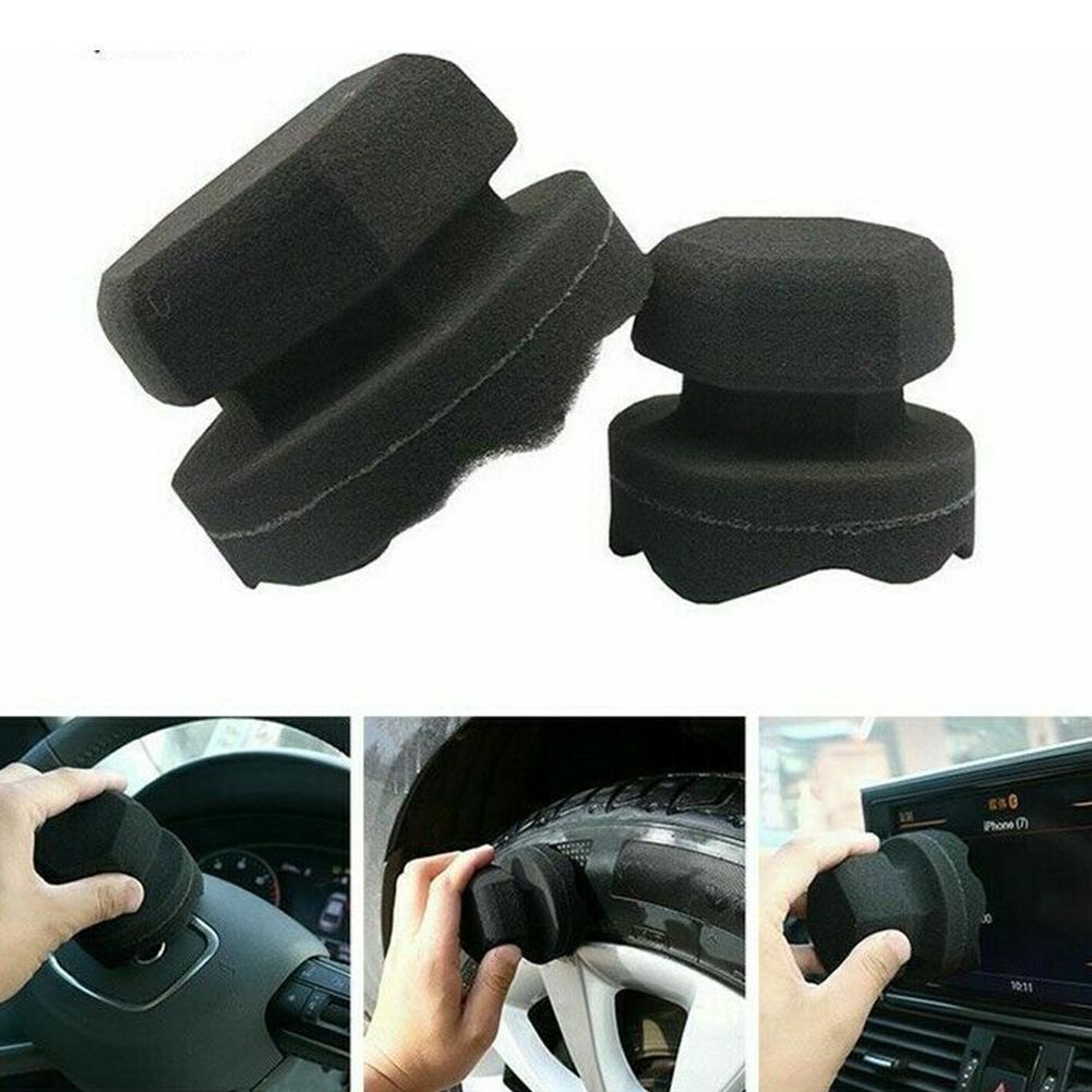 8/11CM Detailing Car Wash Black Tire Cleaning Tools Sponge Tire Car Cleaning Car Waxing Detailing Brush Z7Y1