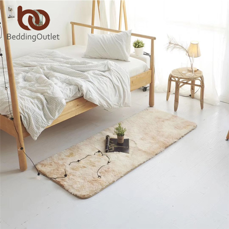 BeddingOutlet-سجادة من الفرو الصناعي المصبوغ ، سجادة قطيفة مصبوغة ، سجادة زخرفية لغرفة النوم ، سجادة لعب للأطفال