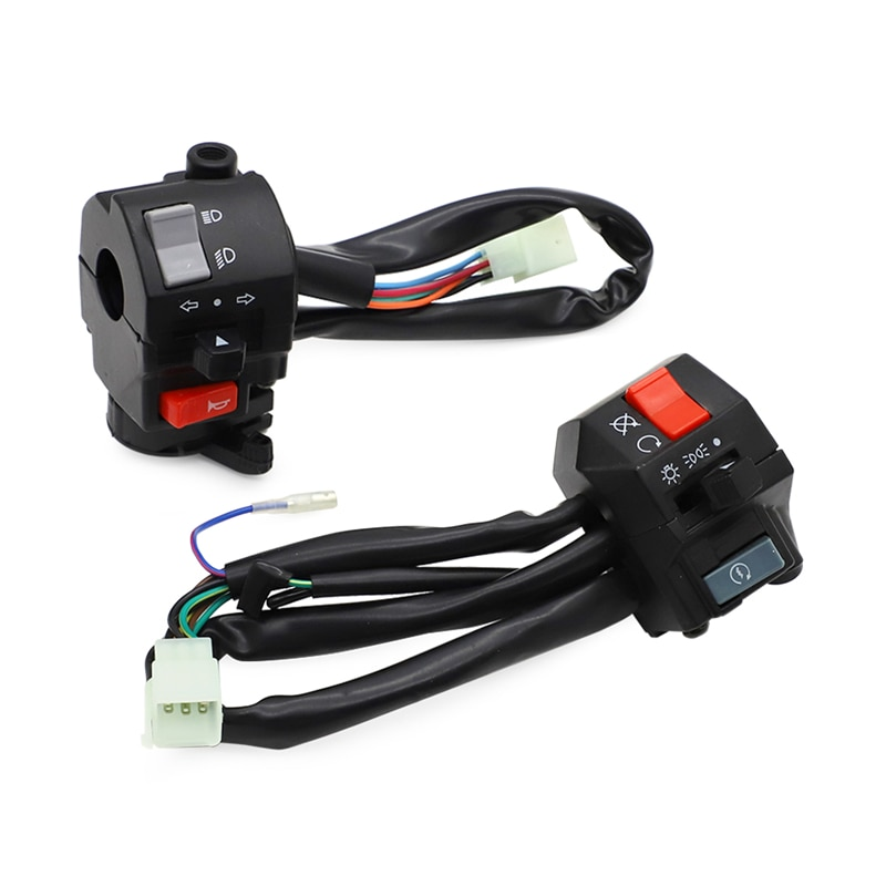 "22mm 7/8 ""Interruptor control manillar arnés para Yamaha XV250 Virago FZR RZ TZR RD 250 350 SRX600 TZR125 eléctrico interruptor de arranque"