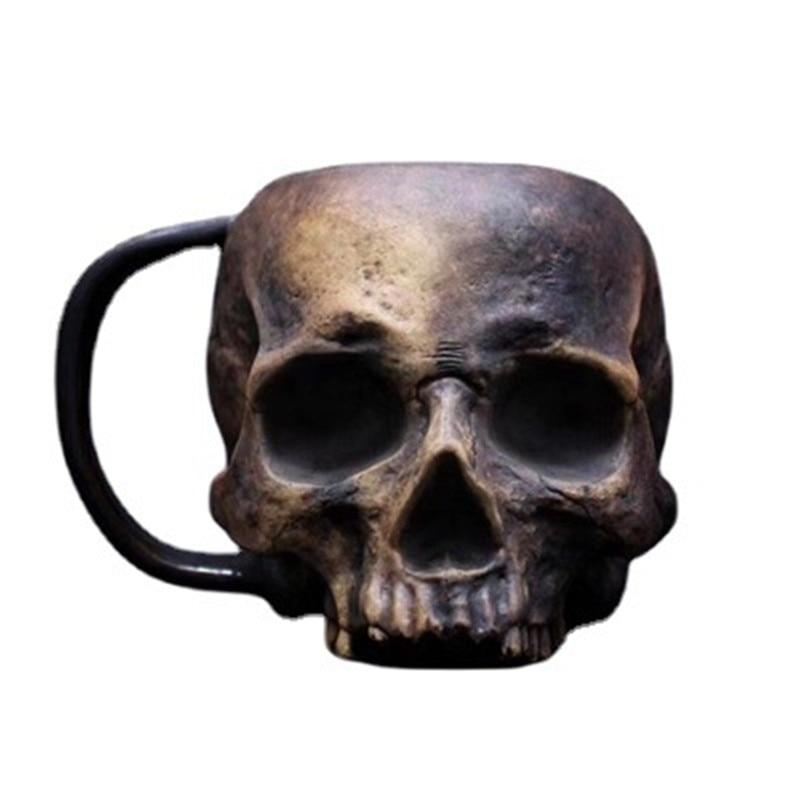 Кружка в виде черепа, кофейная кружка, Готическая фотография, подарок на Хэллоуин, Высококачественная кружка для пива, чая, воды, посуда для ...