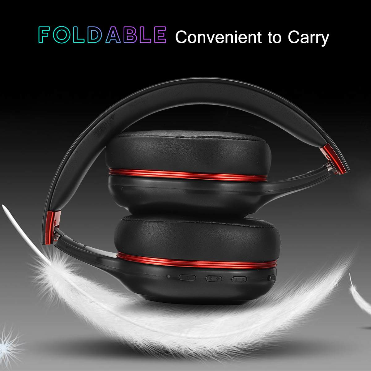 Wireless Bluetooth  Headphones Colorful RGB LED Light Foldable Gaming Headset with Mic for Gamer PC Phones enlarge