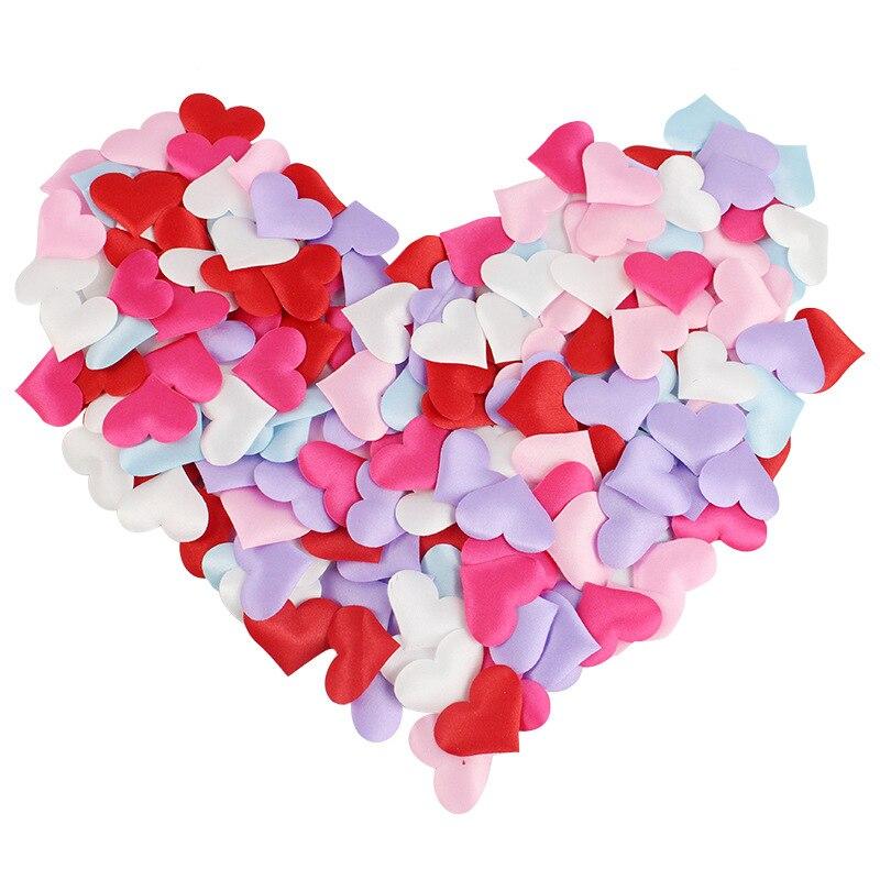 100 unids/lote 3,5*3,5 cm Corazón Artificial flor Boda decoraciones Rosa flor decoración...