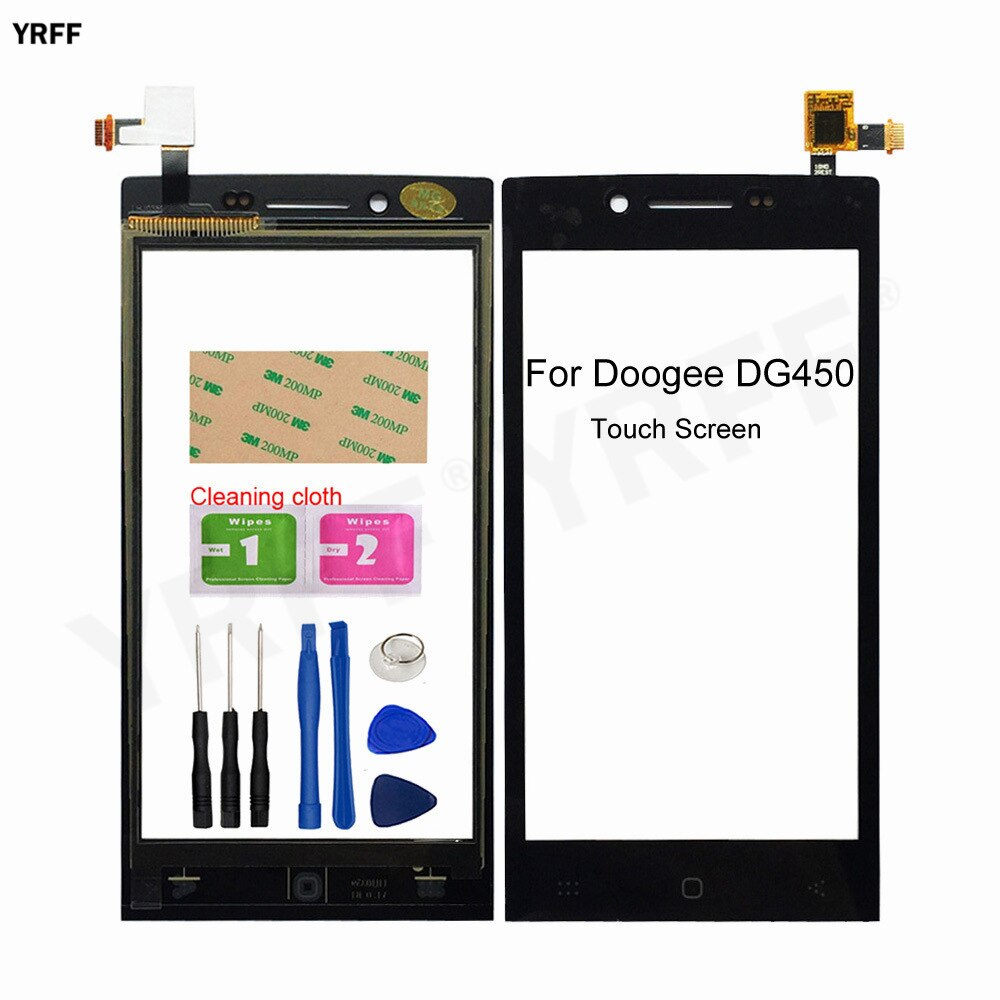 New Touch Screen For Doogee DG450 DG700 Touch Screen Digitizer Front Glass Panel Sensor Glass Assembly Parts 100% testd