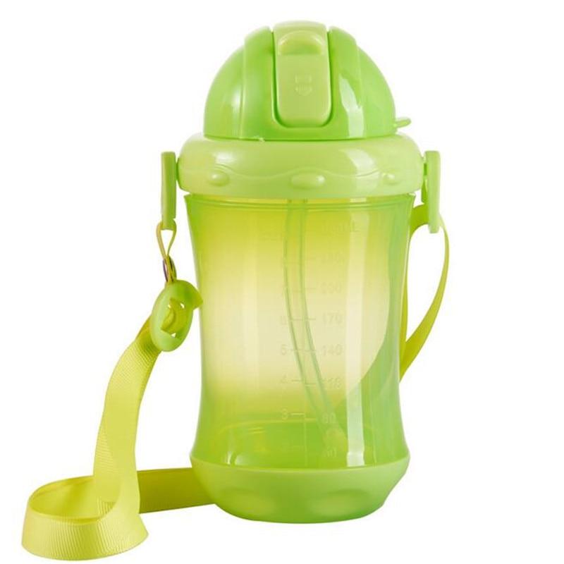 Bobei Elephant 260 ML Baby Feeding Bottle PP Plastic Sippy Cup Handle Automatic Straw Non-slip Defence Fall Anti Flatulence