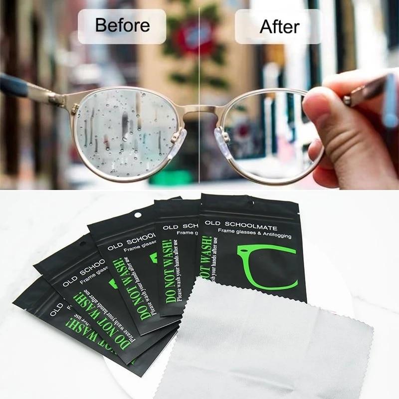 5pc Anti-fog Suede Glasses Cloth Reusable Microfiber Anti-fog Glasses Cloth Glasses Lens Anti-fog Mo