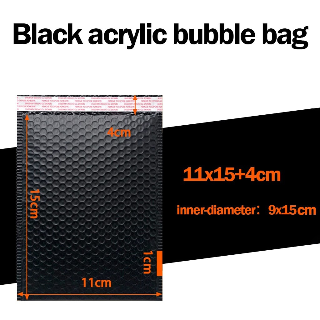 25pc Bubble Mailers Padded Envelopes Lined Poly Mailer Self Seal Black Mailing Packaging Supplies Protection Bag